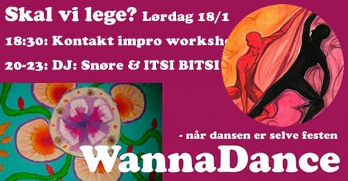 En ny start: Svedig Dans, med Kontakt-impro workshop
